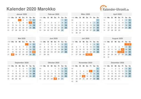 feiertage  marokko kalender uebersicht