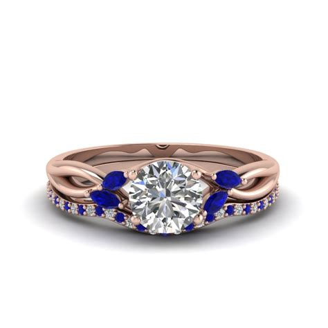 Wedding Rings Sapphire by Wedding Rings Engagement Ring With Sapphire Halo White