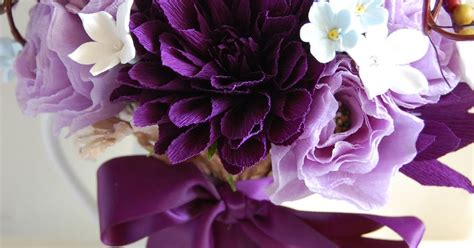 lavender paper flower tutorial stephanotis purple and lavendar wedding bouquet for tam