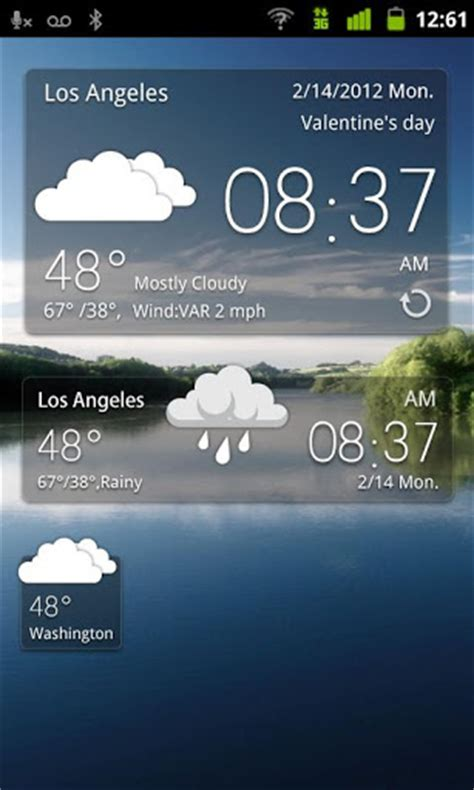 weather and clock widget for android free best android weather widgets for decorating your home screen