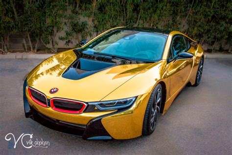 bmw i8 gold 2016 gold bmw i8 wrap it up lv vik chohan photography