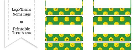 free lego printable name tags green lego theme name tags printable treats com