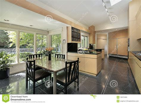 eating area kitchen with windowed eating area royalty free stock photo