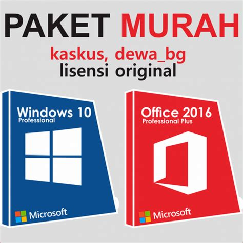 Jual Microsoft Office Kaskus jual lisensi windows 10 dan office 2016 all version