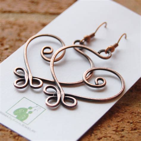 how to make copper jewelry from wire copper earrings large celtic wire jewelry