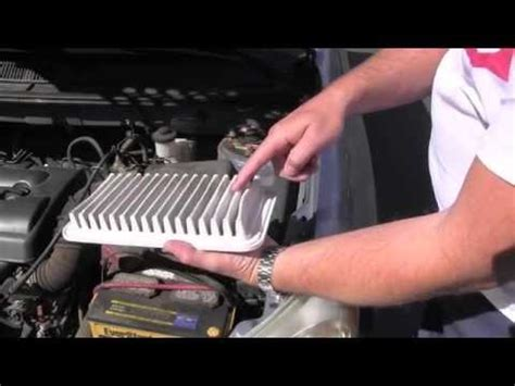 automotive air conditioning repair 2010 toyota matrix engine control toyota matrix engine air filter inspection replacement