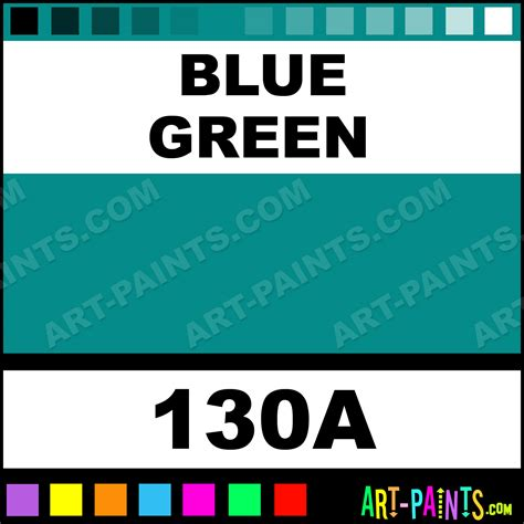 green blue paint colors blue green pro color 24 set watercolor paints 130a