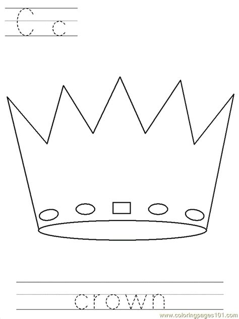 printable crown to color free coloring pages of prince crown