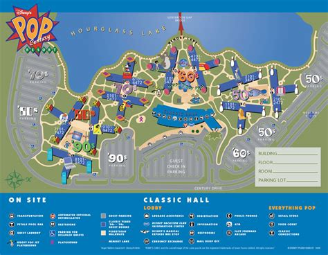 pop century resort map walt disney world resort hotels to neverland travel disney vacations