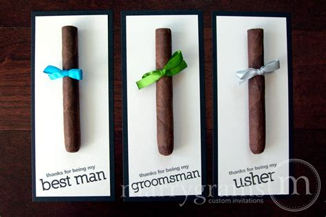 Cigar Gift Card - groomsmen gift cigar card thank you for being my groomsman
