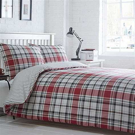 home collection bedding home collection basics red checked somerset bedding set