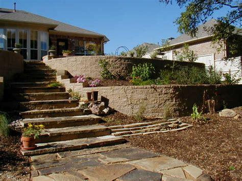 sloped backyard retaining wall triyae com retaining wall backyard slope various