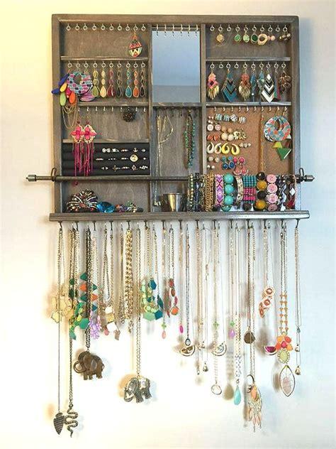 Jewelry Shelf Organizer by Best 25 Jewelry Organizer Wall Ideas On Jewelry Hanger Jewelry Storage And