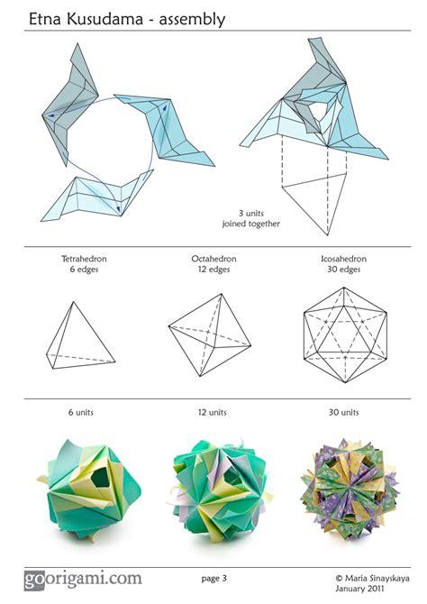 Origami Diagrams Pdf - etna kusudama by sinayskaya diagram go origami