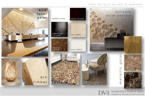 mood board showing  interior design  decoration