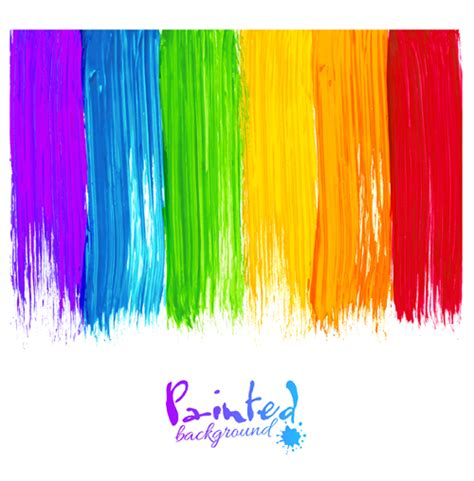 designer paint beautiful rainbow paint design vector 03 dise 241 o e ideas