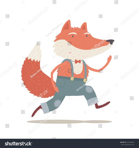 Book Review Up And Running By Fox by Running Fox Childrens Book Illustration Stock Vector