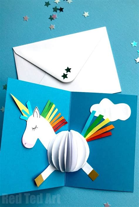 diy 3d birthday card template 3d unicorn card diy unicorns template and 3d