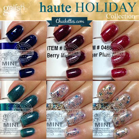 gelish color swatches gelish collections chickettes soak gel