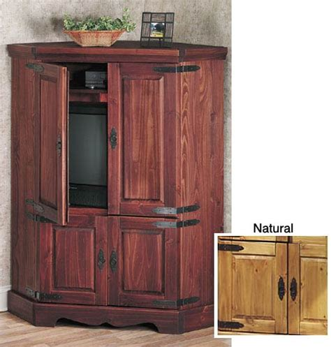 corner entertainment armoire santa fe corner tv armoire free shipping today overstock com 940513