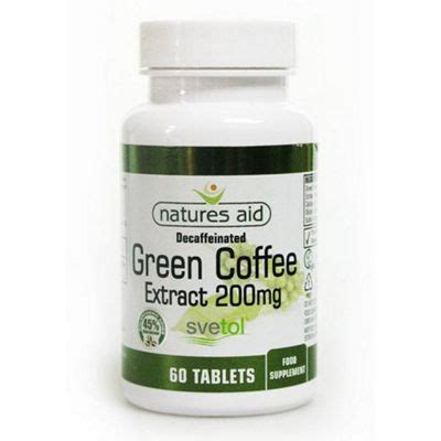 Green Coffee 100 Tablets buy natures aid green coffee extract 200mg svetol 60 tablets from our all nutritional