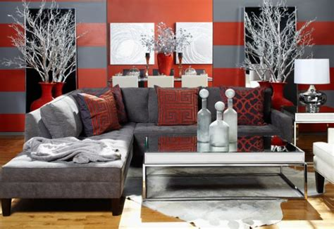red and gray living room grey and red bachelor pad living room decoist