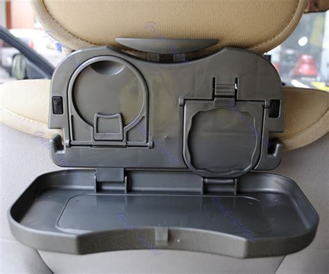Travel Tray Travel Dining Tray Meja Portable Mobil foldable car back seat drink bottle rack holder stand travel dining tray black ebay