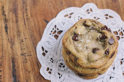 Salted Chocolate Chip Cookies   Vintage Mixer