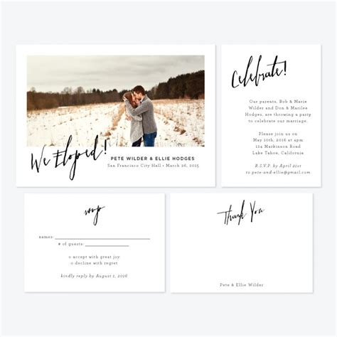 Wedding Announcement For Elopement by Skipt Paper Co Fresh Designs For Elopement Announcements
