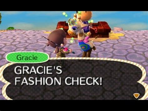 acnl gracie fashion check animal crossing new leaf gracie and police station