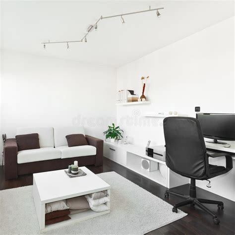 living room computer desk modern living room with computer desk stock image on