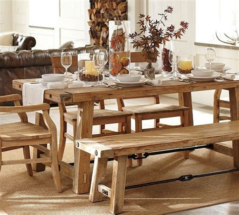 rustic dining room table with bench diy dining table ideas decor around the