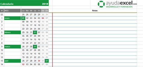 Agenda 2018 Excel Plantillas Calendario En Excel 2018 Ayuda Excel