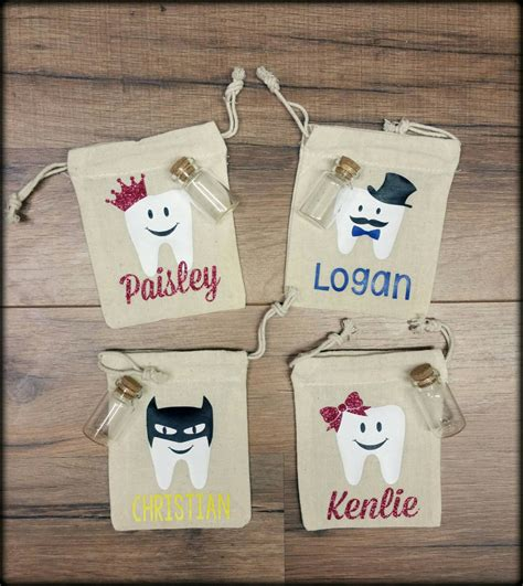 personalized tooth bag tooth pouch gift