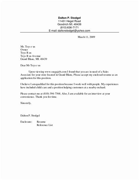simple cover letter sles 15 inspirational resume cover letters sle resume