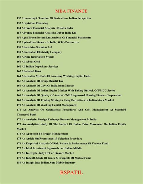 Mba Year Projects In Finance Topics by Mba Finance Project Topics Page 14 2018 2019