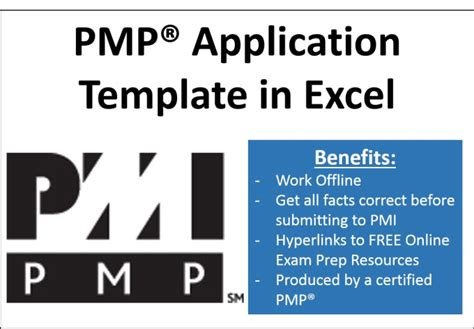 Provide A Pmp Application Template In Excel By Weller34 Pmp Application Template