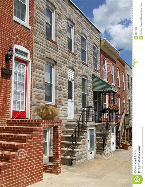 baltimore row houses for sale baltimore maryland town houses stock photos image 5977003
