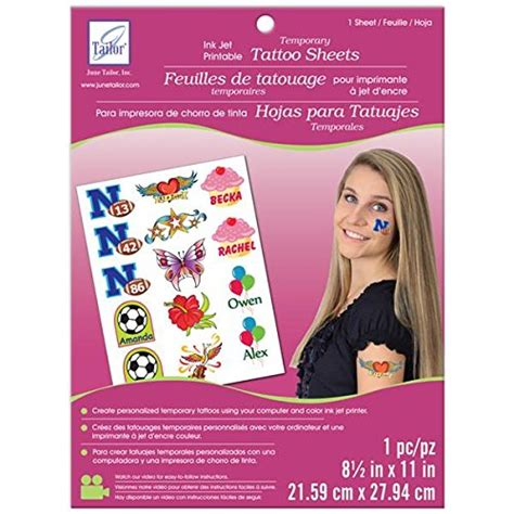 temporary tattoo paper office max amazon com bundle monster cool 5pc diy printable