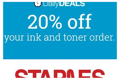 ink toner coupon staples