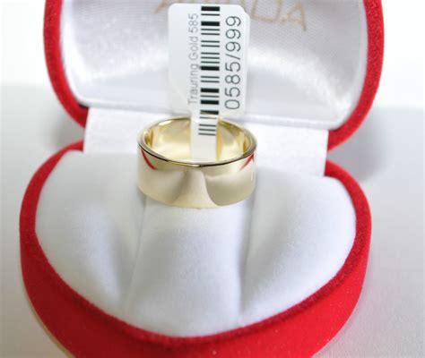 Eheringe 9mm by 1 Trauring Ehering Hochzeitsring Gold 585 Poliert Breite