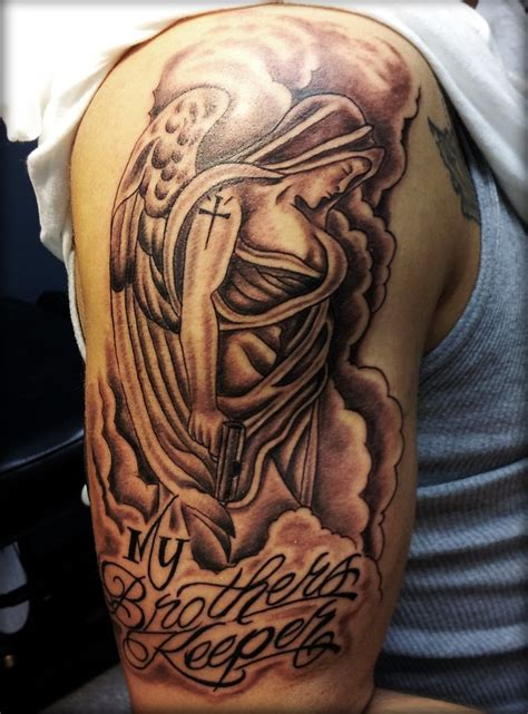 brothers tattoo designs powerful meaning the my brothers keeper