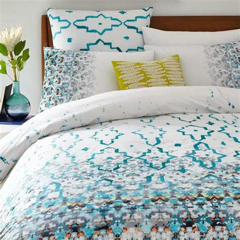 organic bedding sale organic fading trellis duvet cover shams west elm