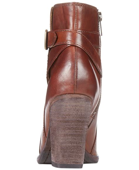 frye high heels frye s patty high heel dress booties in brown lyst