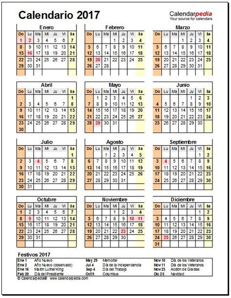Calendario 2017 En Español Calendario Anual 2016 Excel Descargar Calendar Template 2016