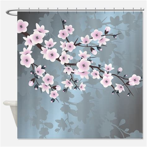 japanese cherry blossom shower curtain cherry blossom shower curtains cherry blossom fabric