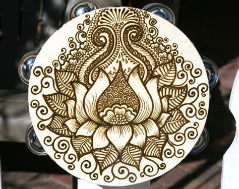 henna design lotus lotus henna tambourine