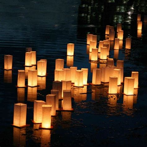 How To Make Paper Floating Lanterns - floating paper lanterns pack of 2 pipii