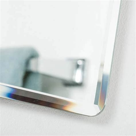 frameless rectangular bathroom mirror vera rectangular beveled frameless bathroom mirror decor