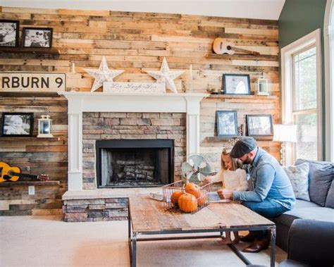 Pallet Wall Fireplace by Pallet Fireplace Wall Pallets Anyone